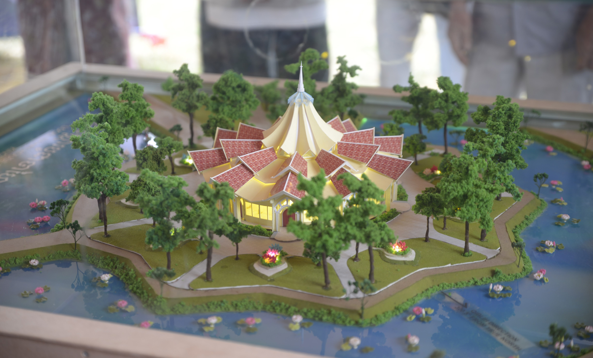 Dawn Unveiling For Cambodian Temple Design Baháí World News - Temple landscape architecture