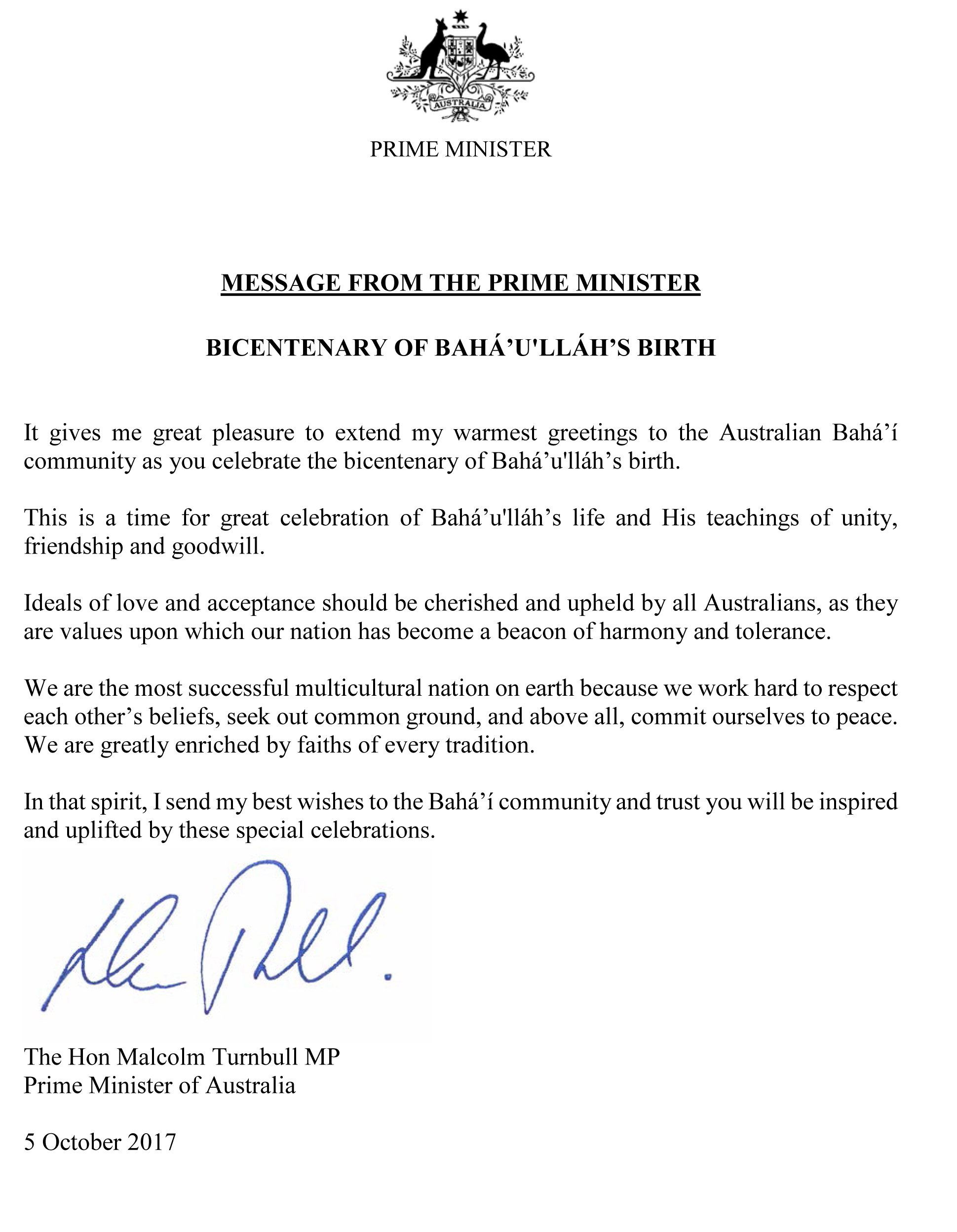 Australian Leaders Honor Bicentenary Bah World News Service Bwns