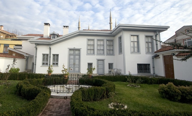 This recent photo shows the House of Rida Big, one of the homes Baha'u'llah lived in during his time in Edirne, Turkey. The Ottoman Empire banished Baha'u'llah from Edirne on 12 August 1868, eventually sending him to Akka. The edifice in Edirne is now a holy place, which Baha'is can visit.