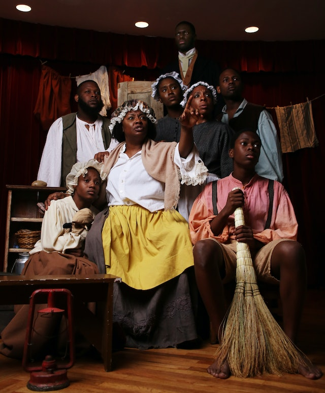 Members of the cast of Henry Box Brown act out a scene from the musical, which was staged at the world-famous Fringe Festival in Edinburgh, Scotland.