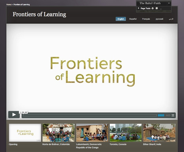 The film Frontiers of Learning is now available through Bahai.org.